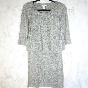 Bar lll Layered Heather Grey Top Crew Neck Tunic M